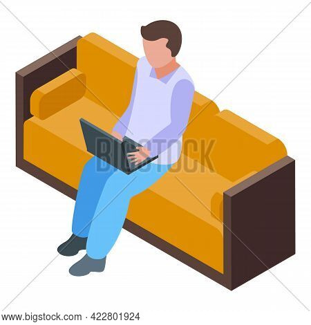 Man Lounge Icon. Isometric Of Man Lounge Vector Icon For Web Design Isolated On White Background