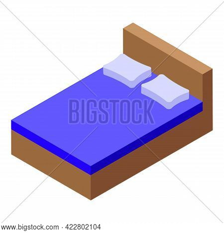 Bedroom Icon. Isometric Of Bedroom Vector Icon For Web Design Isolated On White Background