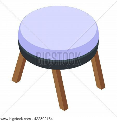 Small Round Table Icon. Isometric Of Small Round Table Vector Icon For Web Design Isolated On White