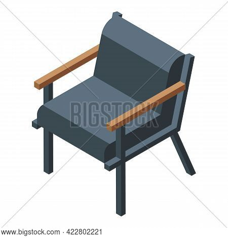Office Armchair Icon. Isometric Of Office Armchair Vector Icon For Web Design Isolated On White Back