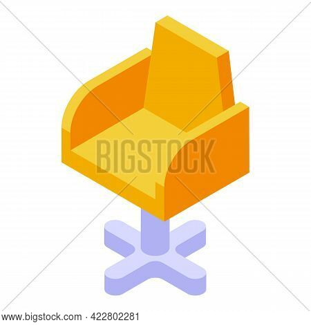 Rotate Armchair Icon. Isometric Of Rotate Armchair Vector Icon For Web Design Isolated On White Back
