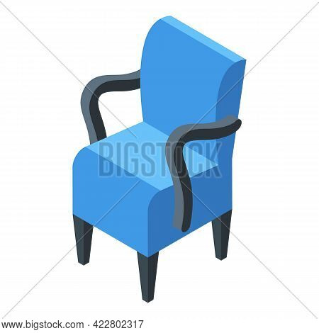 Home Armchair Icon. Isometric Of Home Armchair Vector Icon For Web Design Isolated On White Backgrou