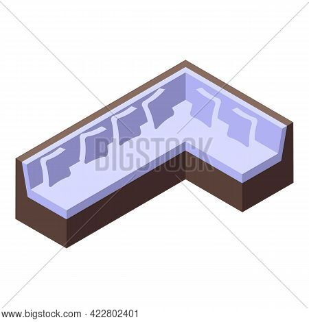 Big Room Sofa Icon. Isometric Of Big Room Sofa Vector Icon For Web Design Isolated On White Backgrou