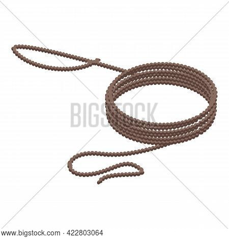 Long Lasso Icon. Isometric Of Long Lasso Vector Icon For Web Design Isolated On White Background