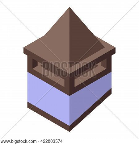 Pyramide Chimney Icon. Isometric Of Pyramide Chimney Vector Icon For Web Design Isolated On White Ba