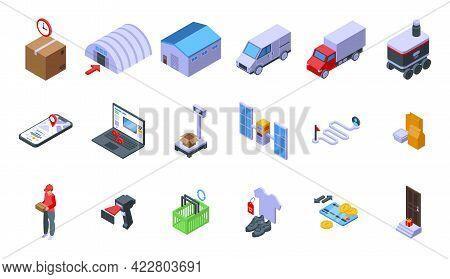 Ordering Process Icons Set. Isometric Set Of Ordering Process Vector Icons For Web Design Isolated O