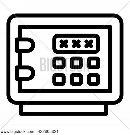Deposit Room Safe Icon. Outline Deposit Room Safe Vector Icon For Web Design Isolated On White Backg