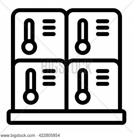 Deposit Room Icon. Outline Deposit Room Vector Icon For Web Design Isolated On White Background