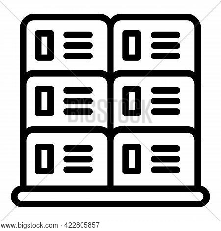 Deposit Room Box Icon. Outline Deposit Room Box Vector Icon For Web Design Isolated On White Backgro