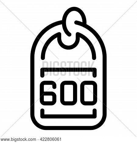 Deposit Room Number Tag Icon. Outline Deposit Room Number Tag Vector Icon For Web Design Isolated On
