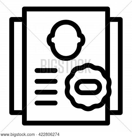 Blacklist Page Icon. Outline Blacklist Page Vector Icon For Web Design Isolated On White Background