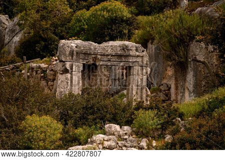 Old Stone Passage Of Ancient Sunken Lycian City On The Island Of Kekova