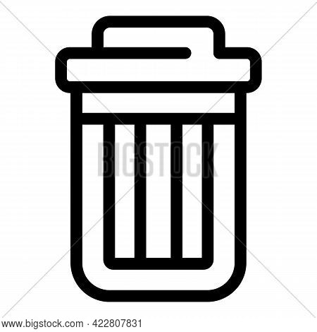 Recycle Bin Icon. Outline Recycle Bin Vector Icon For Web Design Isolated On White Background