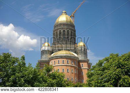 Bucharest, Romania - June 5, 2021: Construction Site Of