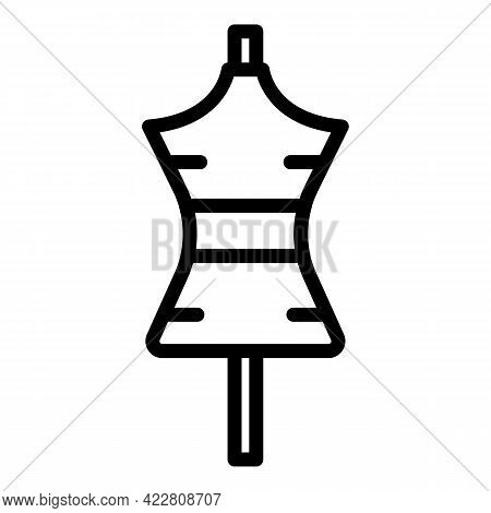 Haberdashery Mannequin Icon. Outline Haberdashery Mannequin Vector Icon For Web Design Isolated On W