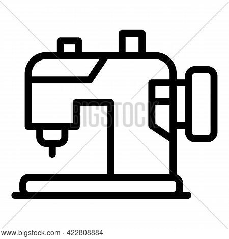 Modern Sewing Machine Icon. Outline Modern Sewing Machine Vector Icon For Web Design Isolated On Whi