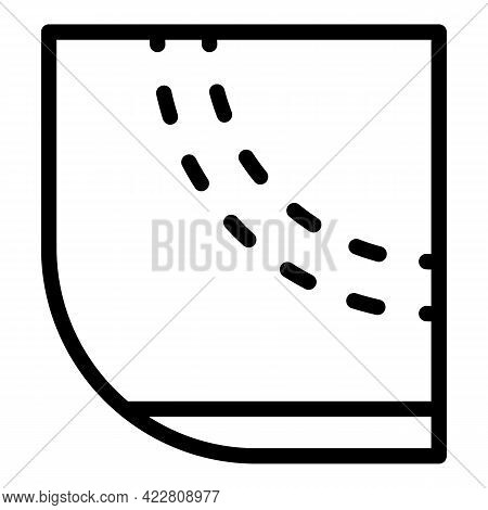 Cut Textile Material Icon. Outline Cut Textile Material Vector Icon For Web Design Isolated On White