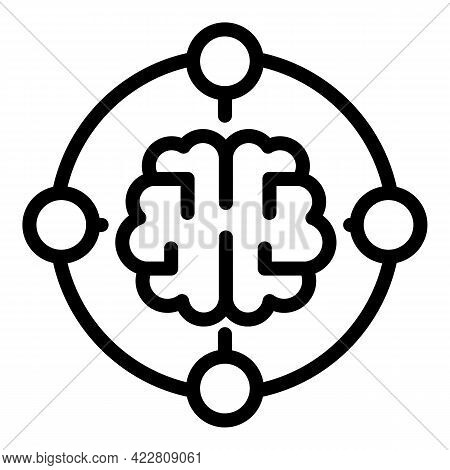 Brainstorming Process Icon. Outline Brainstorming Process Vector Icon For Web Design Isolated On Whi