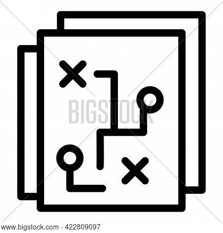 Brainstorming Scheme Icon. Outline Brainstorming Scheme Vector Icon For Web Design Isolated On White