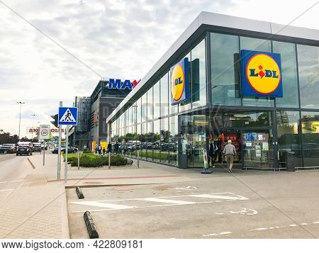 Siauliai, Lithuania - 4th June, 2021: Cheap Food German Supermarket Lidl In Lithuania