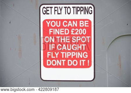 No Dumping Or Fly Tipping Of Rubbish Sign