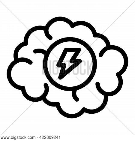 Brainstorming Plan Icon. Outline Brainstorming Plan Vector Icon For Web Design Isolated On White Bac