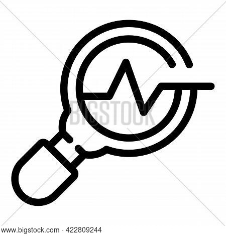 Brainstorming Magnifier Icon. Outline Brainstorming Magnifier Vector Icon For Web Design Isolated On