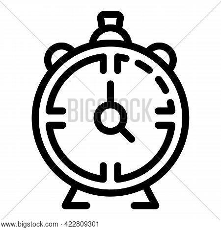 Brainstorming Alarm Clock Icon. Outline Brainstorming Alarm Clock Vector Icon For Web Design Isolate