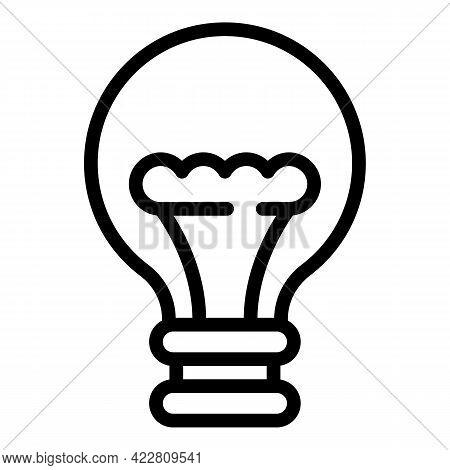 Bulb Smart Lightbulb Icon. Outline Bulb Smart Lightbulb Vector Icon For Web Design Isolated On White