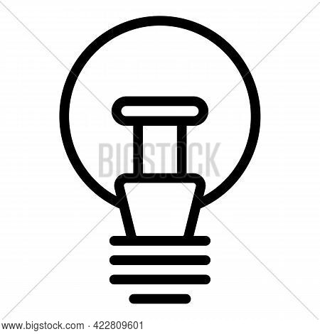 New Smart Lightbulb Icon. Outline New Smart Lightbulb Vector Icon For Web Design Isolated On White B