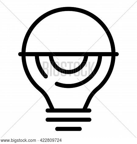 Electric Smart Lightbulb Icon. Outline Electric Smart Lightbulb Vector Icon For Web Design Isolated
