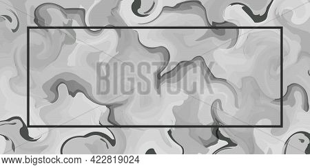 Gray Marble Background Stone In Abstract Style. Old Vintage Vector Pattern. Grey Marble. Vector Abst