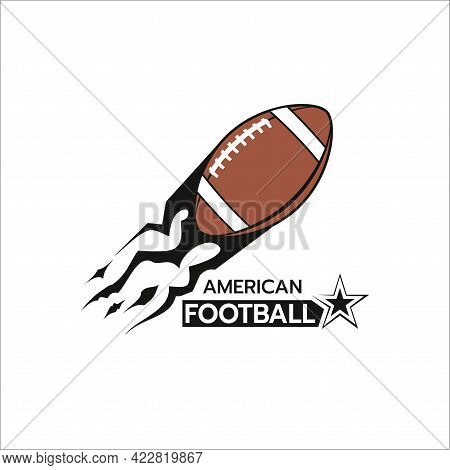 Beautiful Of American Football Logo Template,stylized Image Of Football Logo Icon Silhouette On Whit