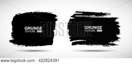 Hand Drawn Grunge Background Set. Brush Stroke. Sale Banners. Distress Textures. Blank Shapes. Vecto