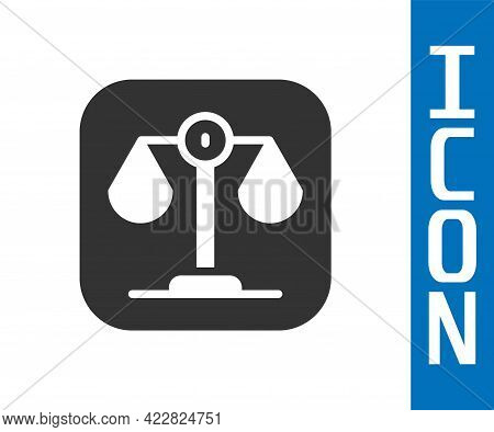 Grey Scales Of Justice Icon Isolated On White Background. Court Of Law Symbol. Balance Scale Sign. V
