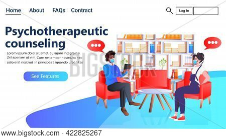 Female Psychologist Solving Psychological Problem Of Male Patient Psychotherapeutic Counseling Psych