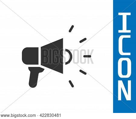 Grey Megaphone Icon Isolated On White Background. Speaker Sign. Vector