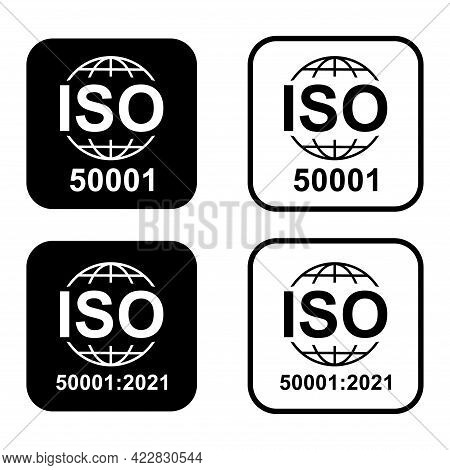 Energy Management. Standard Quality Symbol. Vector Button Sign Isolated On White Background .