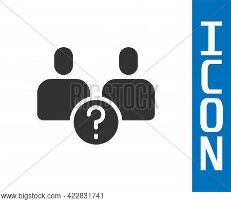 Grey Complicated Relationship Icon Isolated On White Background. Bad Communication. Colleague Compli