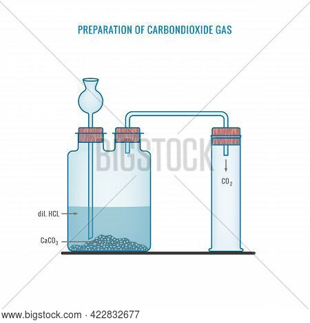 Carbondioxide Gas Preparation.preparation Of Carbondioxide Gas In Laboratory With The Help Of Calciu