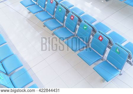 New Normal Modern Lifestyle Keep Distance To Prevent The Spread Of The Covid Virus At Public Places,