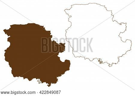 Harz District (federal Republic Of Germany, Rural District, Free State Of Saxony-anhalt) Map Vector
