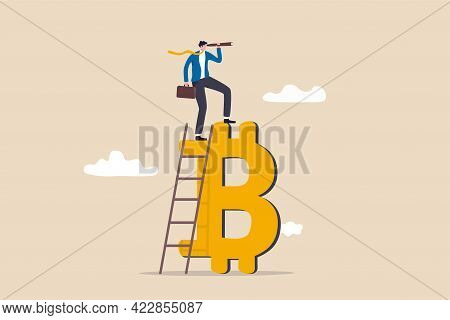 Future Of Bitcoin And Cryptocurrency, Investment Opportunity Or Alternative Financial Asset Concept,