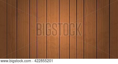 Vintage Grunge Brown Wooden Plank Texture Background Vector Illustration