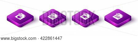 Set Isometric Ppt File Document, Png, Wma And Doc Icon. Vector