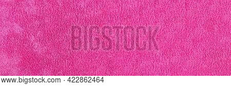 The Background And Texture Of The Synthetic Material Of The Microfiber Kitchen Towel