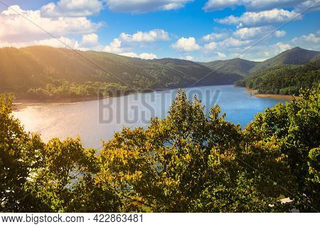 Lake In The Dornish Forest, Portugal Sun