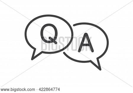 Questions And Answers Speech Bubble Icon. Q And A Sign On White Background. Vector Illustration