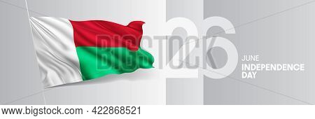 Madagascar Happy Independence Day Greeting Card, Banner Vector Illustration
