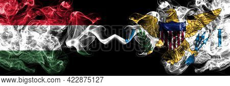 Hungary, Hungarian Vs United States Of America, America, Us, Usa, American, Virgin Islands Smoky Fla